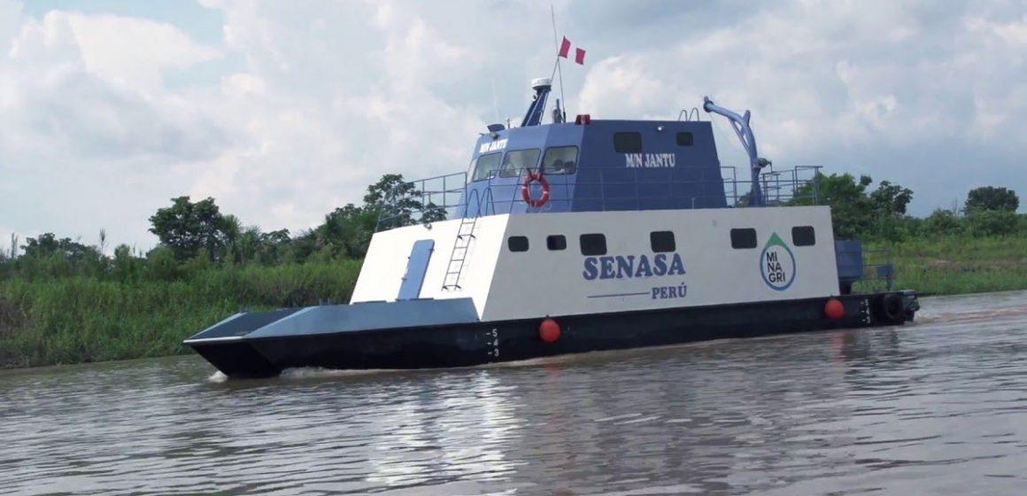 Embarcación Jantu realiza campaña de sanidad agraria en Iquitos