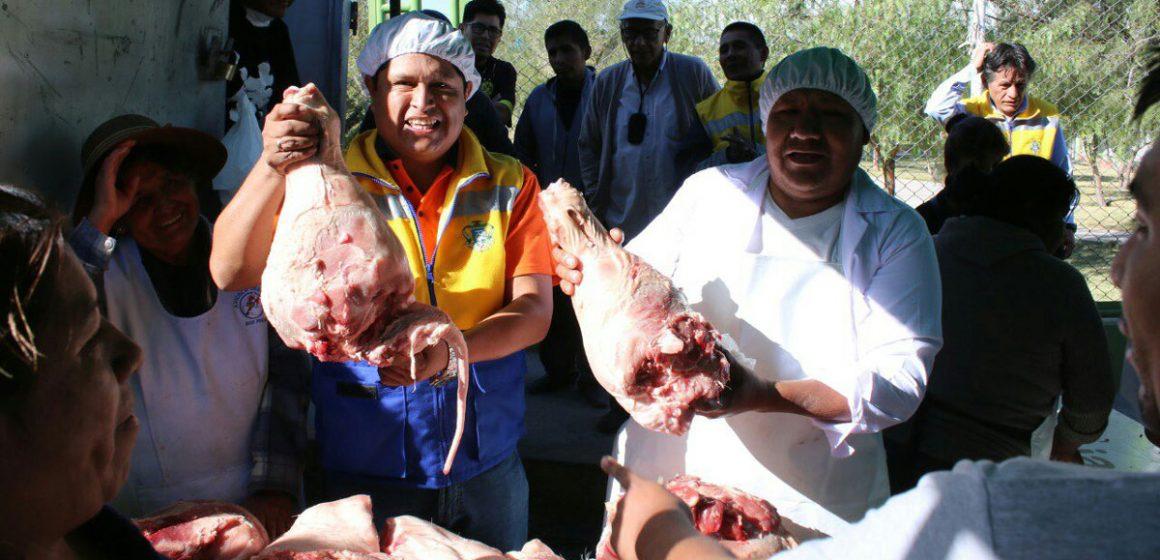 Vendieron miles de kilos de cerdo por fiestas en Arequipa