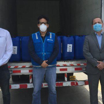 Quimtia S.A dona 5 toneladas de Peróxido de Hidrógeno a ESSALUD para combatir el COVID-19
